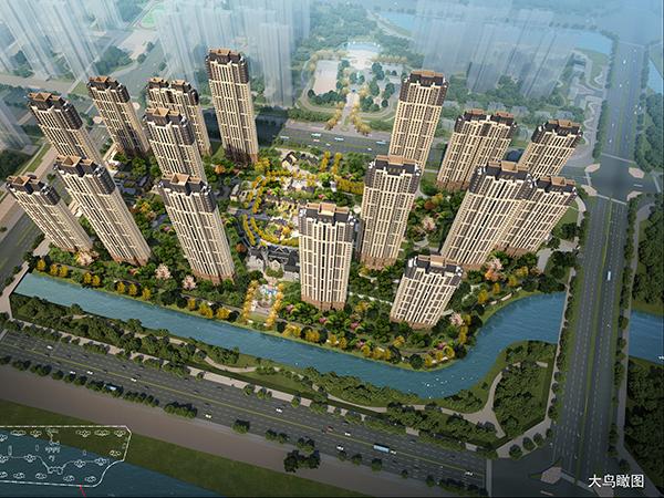 漳州錦繡碧湖D1、D2鳥瞰圖